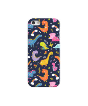 Funny Dinosaurs Cartton Kids for Newest iPhone 5 Case Cover