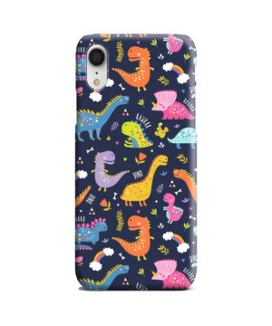 Funny Dinosaurs Cartton Kids for Nice iPhone XR Case