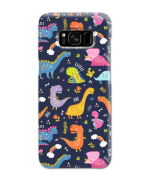 Funny Dinosaurs Cartton Kids for Nice Samsung Galaxy S8 Case