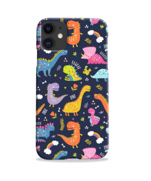 Funny Dinosaurs Cartton Kids for Premium iPhone 11 Case Cover