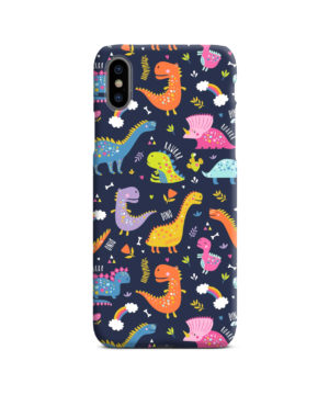 Funny Dinosaurs Cartton Kids for Premium iPhone X / XS Case