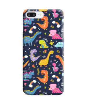 Funny Dinosaurs Cartton Kids for Simple iPhone 7 Plus Case Cover