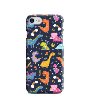 Funny Dinosaurs Cartton Kids for Unique iPhone 8 Case