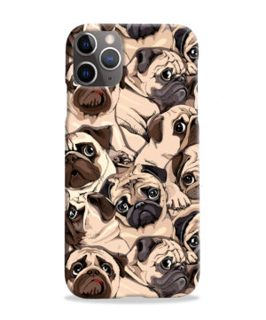 Funny Pug Dog Doodle Face Art for Amazing iPhone 11 Pro Max Case Cover