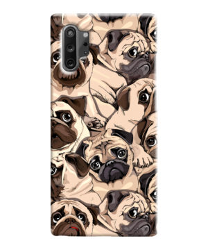 Funny Pug Dog Doodle Face Art for Amazing Samsung Galaxy Note 10 Case Cover