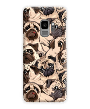 Funny Pug Dog Doodle Face Art for Amazing Samsung Galaxy S9 Case Cover