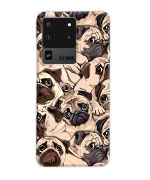 Funny Pug Dog Doodle Face Art for Cool Samsung Galaxy S20 Ultra Case