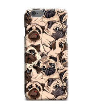 Funny Pug Dog Doodle Face Art for Newest iPhone 6 Plus Case Cover