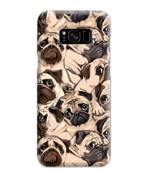 Funny Pug Dog Doodle Face Art for Newest Samsung Galaxy S8 Plus Case Cover