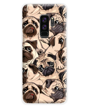 Funny Pug Dog Doodle Face Art for Nice Samsung Galaxy S9 Plus Case