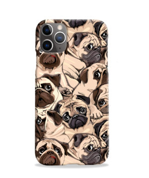Funny Pug Dog Doodle Face Art for Simple iPhone 11 Pro Case