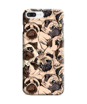 Funny Pug Dog Doodle Face Art for Stylish iPhone 8 Plus Case Cover