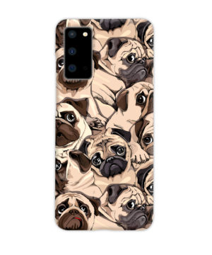 Funny Pug Dog Doodle Face Art for Stylish Samsung Galaxy S20 Case