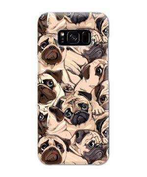 Funny Pug Dog Doodle Face Art for Stylish Samsung Galaxy S8 Case Cover