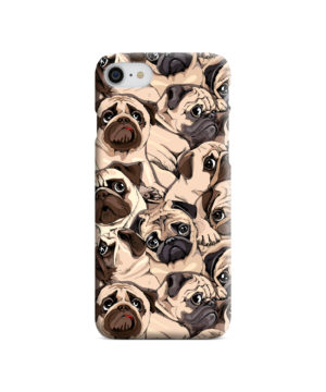 Funny Pug Dog Doodle Face Art for Trendy iPhone 7 Case