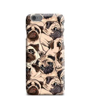 Funny Pug Dog Doodle Face Art for Unique iPhone 6 Case