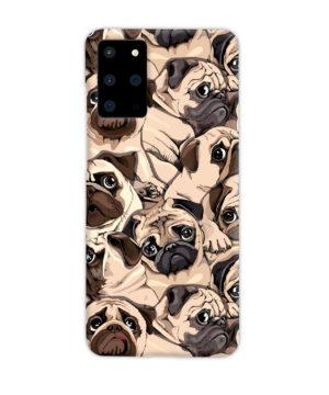 Funny Pug Dog Doodle Face Art for Unique Samsung Galaxy S20 Plus Case