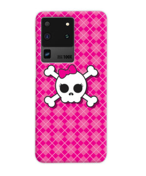 Girl Pink Skull for Best Samsung Galaxy S20 Ultra Case Cover