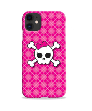 Girl Pink Skull for Cool iPhone 11 Case Cover