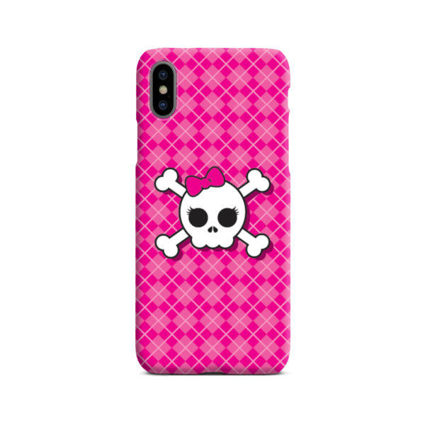 Girl Pink Skull for Custom iPhone X / XS Case Cover