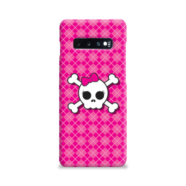 Girl Pink Skull for Cute Samsung Galaxy S10 Plus Case