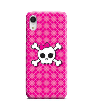 Girl Pink Skull for Nice iPhone XR Case