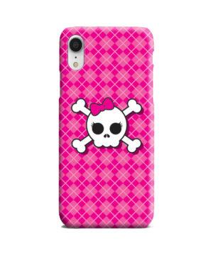 Girl Pink Skull for Nice iPhone XR Case