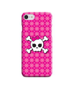 Girl Pink Skull for Stylish iPhone 7 Case