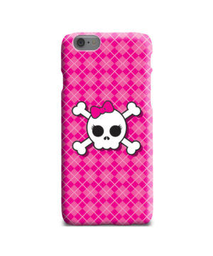 Girl Pink Skull for Unique iPhone 6 Case Cover
