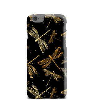 Gold Colored Dragonflies for Amazing iPhone 6 Case Cover
