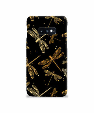 Gold Colored Dragonflies for Beautiful Samsung Galaxy S10e Case Cover