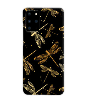 Gold Colored Dragonflies for Custom Samsung Galaxy S20 Plus Case Cover