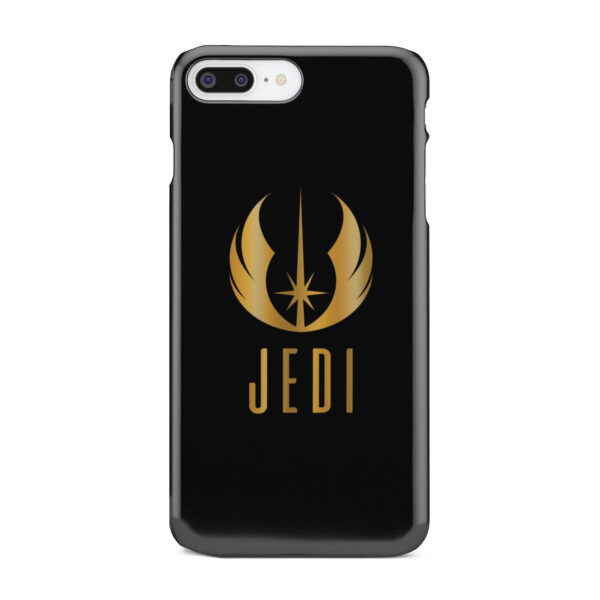 Gold Jedi Fallen Symbol for Personalised iPhone 8 Plus Case Cover