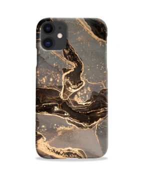 Golden Smoke Marble for Customized iPhone 11 Case