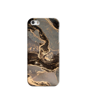 Golden Smoke Marble for Simple iPhone 5 Case