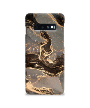 Golden Smoke Marble for Simple Samsung Galaxy S10 Case Cover
