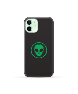 Green Alien Face for Beautiful iPhone 12 Mini Case Cover