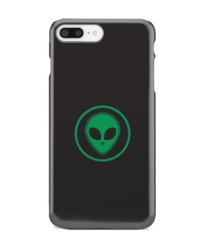 Green Alien Face for Cool iPhone 8 Plus Case