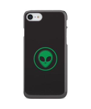 Green Alien Face for Customized iPhone 8 Case