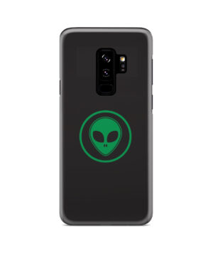 Green Alien Face for Newest Samsung Galaxy S9 Plus Case Cover