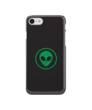 Green Alien Face for Personalised iPhone SE 2020 Case
