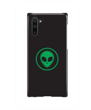 Green Alien Face for Simple Samsung Galaxy Note 10 Case Cover