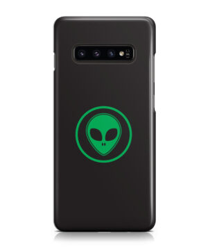 Green Alien Face for Trendy Samsung Galaxy S10 Case