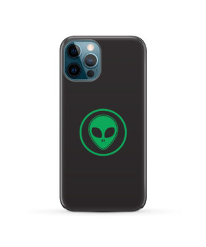 Green Alien Face for Unique iPhone 12 Pro Case Cover