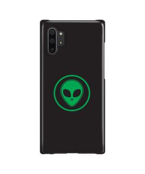 Green Alien Face for Unique Samsung Galaxy Note 10 Plus Case