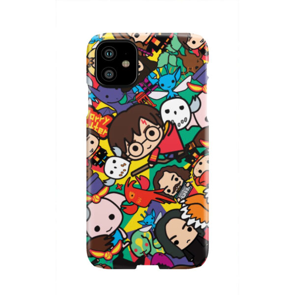 Harry Potter Cartoon Characters for Cool iPhone 11 Case