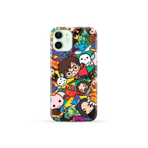 Harry Potter Cartoon Characters for Personalised iPhone 12 Mini Case Cover
