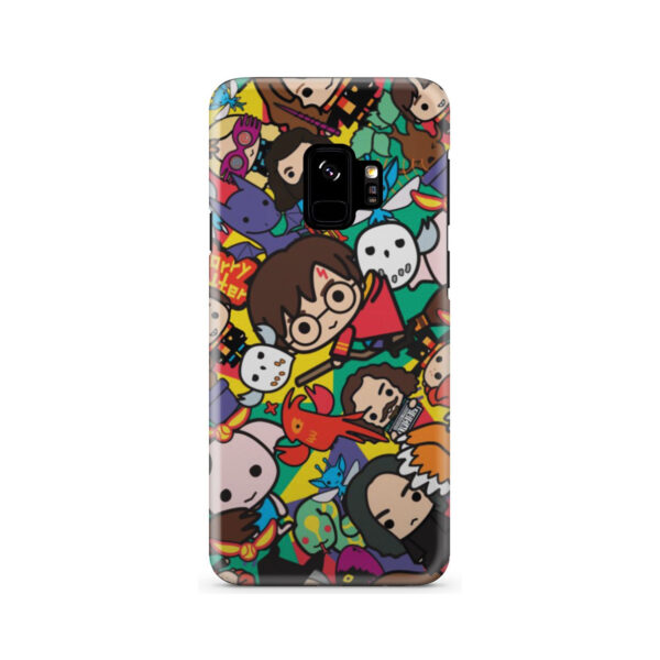 Harry Potter Cartoon Characters for Premium Samsung Galaxy S9 Case