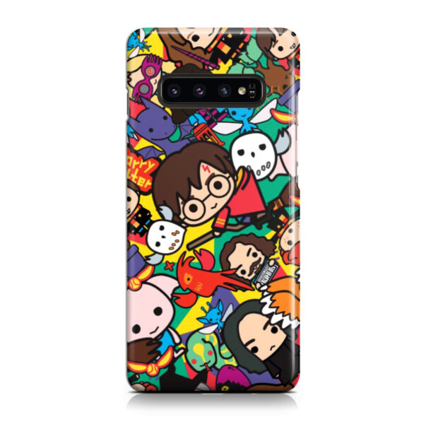 Harry Potter Cartoon Characters for Stylish Samsung Galaxy S10 Case Cover