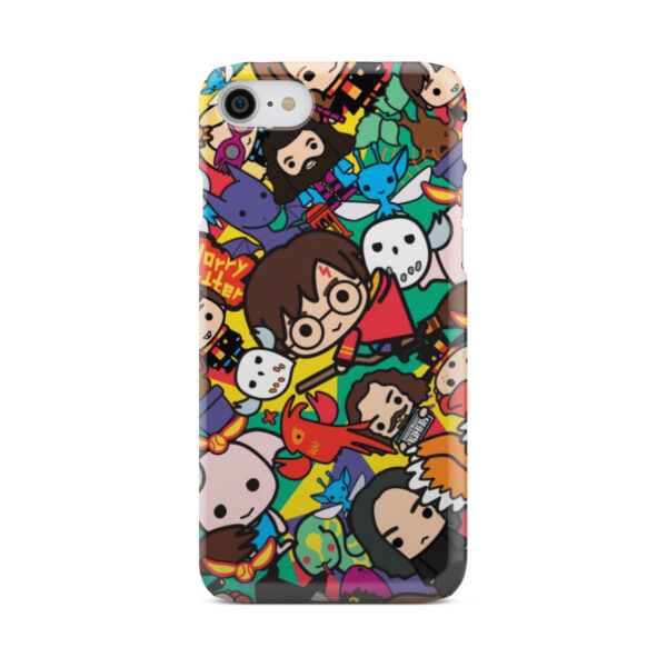 Harry Potter Cartoon Characters for Unique iPhone 8 Case Cover